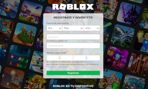 crear usuario roblox